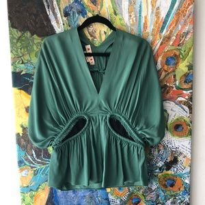 Brand New Marni Italy wing sleeve blouse